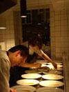 Uredigeret foto fra restaurantkøkken